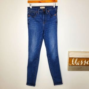"Madewell 10"" High Rise Skinny Blue Jeans Denim 28T"